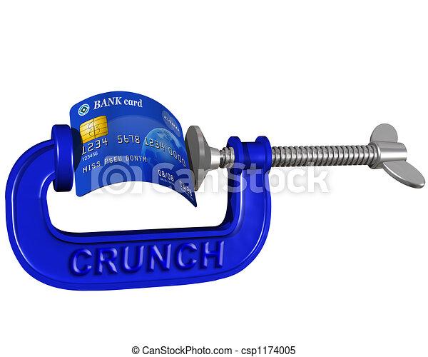 Credit card crunch - csp1174005