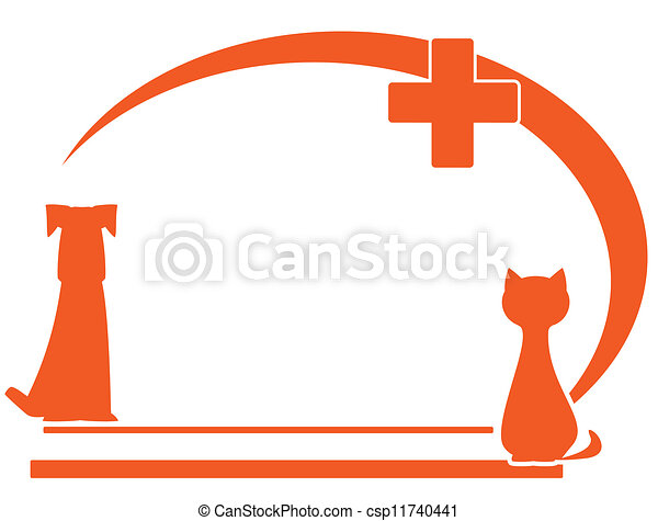 veterinary symbol with place text - csp11740441