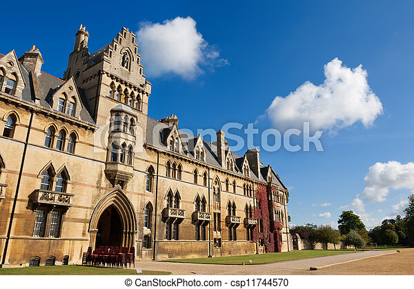 Christ Church college. Oxford, England - csp11744570
