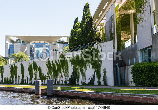 The Bundeskanzleramt / Kanzleramt / Chancellery is the seat of the German federal government and the residence of the German Bundeskanzler (Chancellor). It is located in Berlin, Germany. - csp11744940