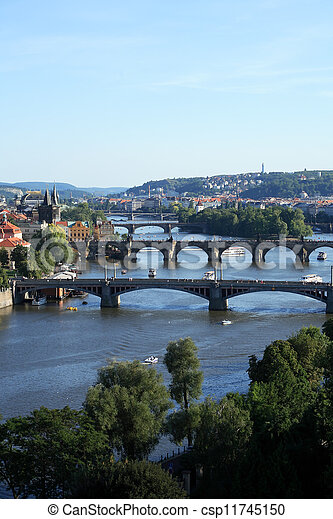 Prague Bridges - csp11745150
