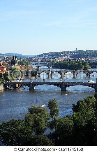 Prague Bridges - csp11745150