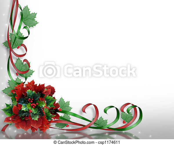 Clipart Of Christmas Flowers Corner Image And