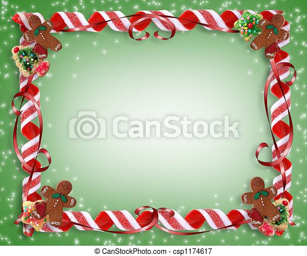 Christmas Treats Border - csp1174617