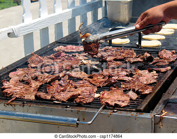Carne Asada on The Grill Carne Asada Grilling at a
