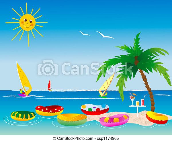 Archivio illustrazioni - palma, albero, isola - archivi di