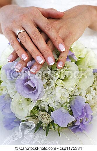 bukett, bröllop - csp1175334