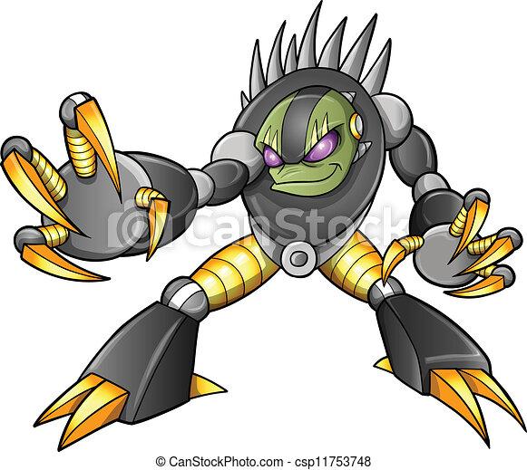 Alien Robot Drawings Alien Ninja Warrior Robot