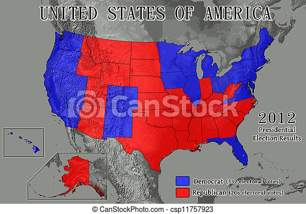 United States 2012 Election Results - csp11757923