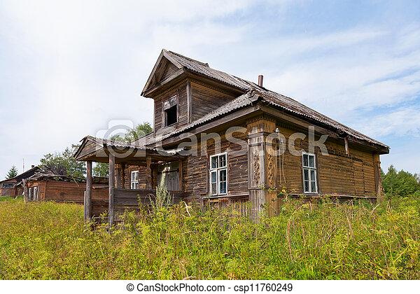 stock foto von altes h lzern haus russische dorf. Black Bedroom Furniture Sets. Home Design Ideas