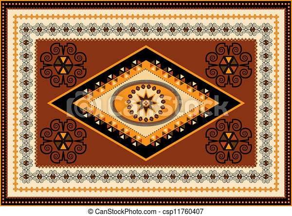 Vector Clipart Of Decorative Rug Designs In Oriental