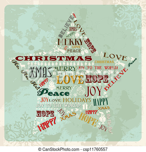 Vectors of Vintage merry christmas concept tree - Vintage Merry ...