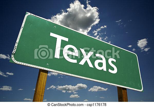 Texas Road Sign - csp1176178