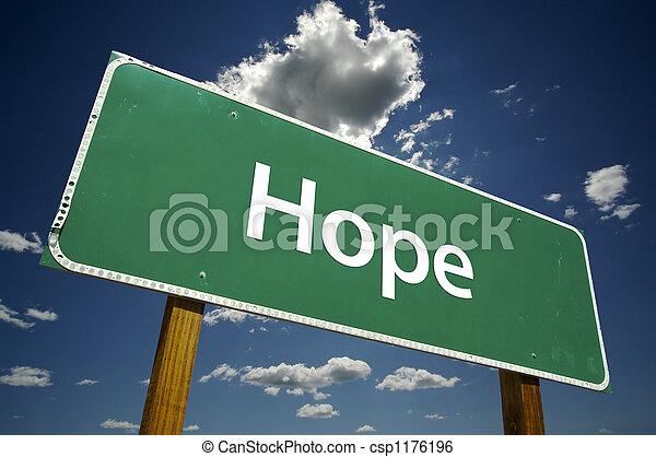 Hope Road Sign - csp1176196