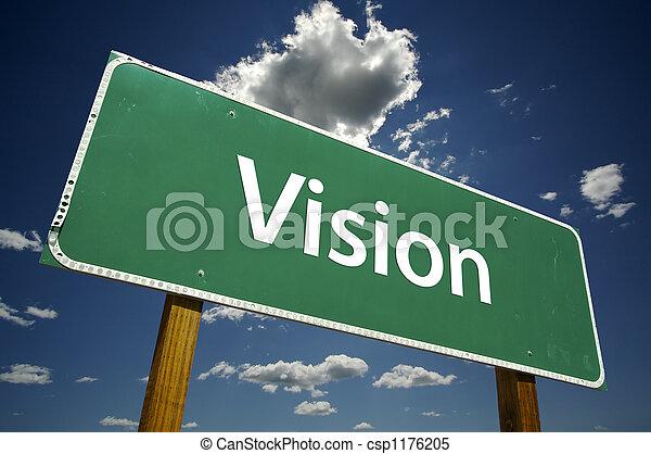 Vision Road Sign - csp1176205