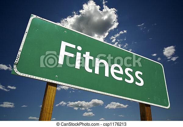 fitness, väg, underteckna - csp1176213