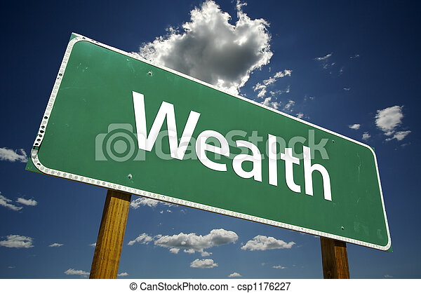 Wealth Road Sign - csp1176227