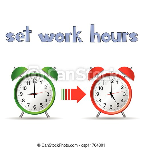 Set Work Hours With Two Clock