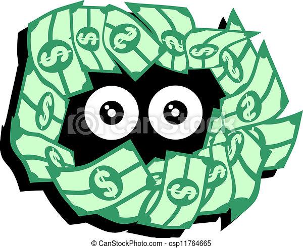 Clip Art Vector of Fake money - Money for Christmas csp4554096 ...