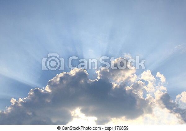 Beams of a sunlight because of clouds - csp1176859