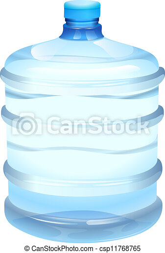 Clip Art Vector of water bottle - illustration of a water bottle ...