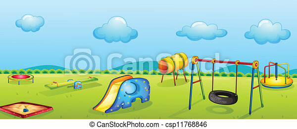 illustration of a play park for children csp11768846 - Search Clip Art ...