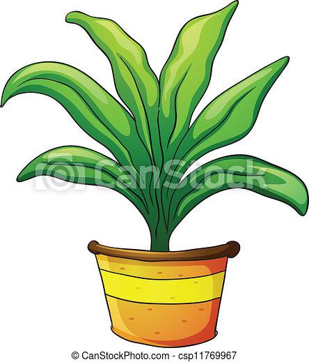 clip art vecteur de plante pot illustration de a plante pot sur a csp11769967. Black Bedroom Furniture Sets. Home Design Ideas