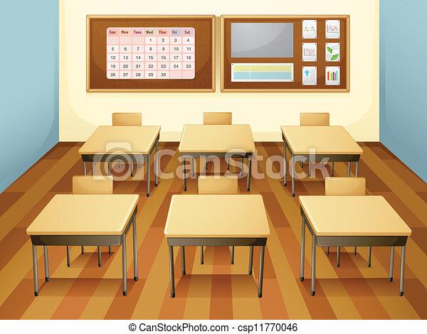 Empty Classroom Wallpaper