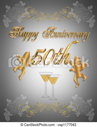50th Wedding anniversary - csp1177043