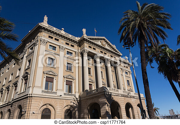 The building of the military government. Barcelona, Catalonia, Spain - csp11771764