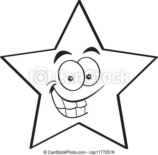 Star Cartoon Drawing Cartoon Smiling Star