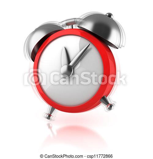 Stock Illustration of alarm clock ringing 3d illustration ...