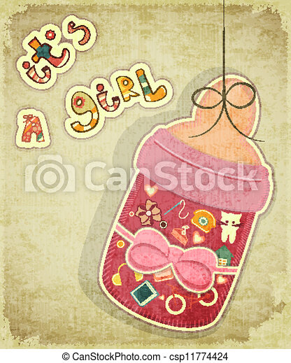 Birthday Card for Girl - csp11774424