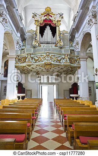 Organ in church at Dubrovnik, Croatia - csp11777280