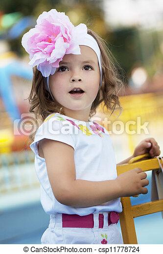 Beautiful baby girl surprised
