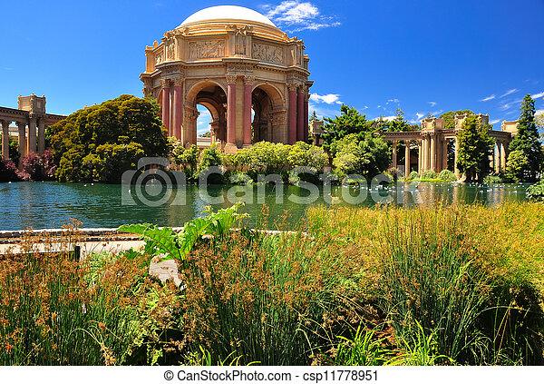 San Francisco park Palace of Fine Arts - csp11778951