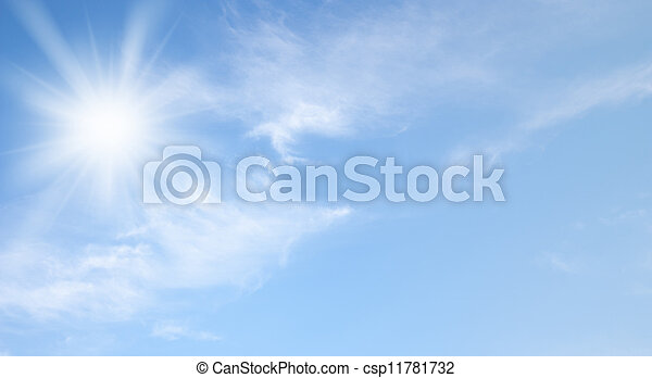 Sky and sun - csp11781732