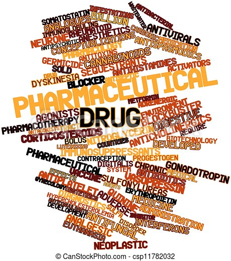 Word cloud for Pharmaceutical drug - csp11782032