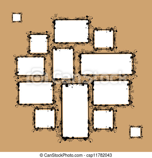 Frame Collage Vector Collage of Frames For Your