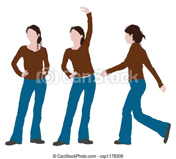 woman posture - csp1178308