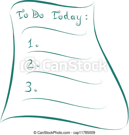 - to do today abstract sketch of list csp11785009 - Search Clip Art ...