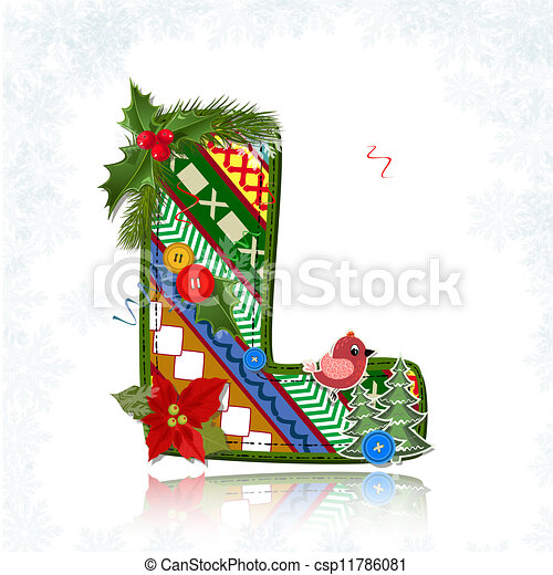 Vector of Art Christmas letter handmade csp11786081 - Search Clip Art ...