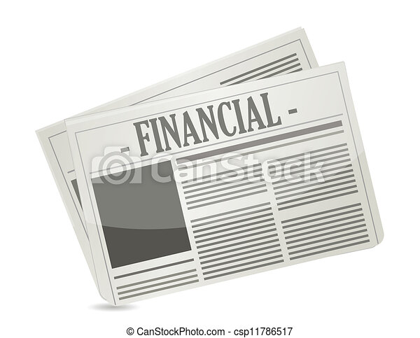 financial newspaper - csp11786517