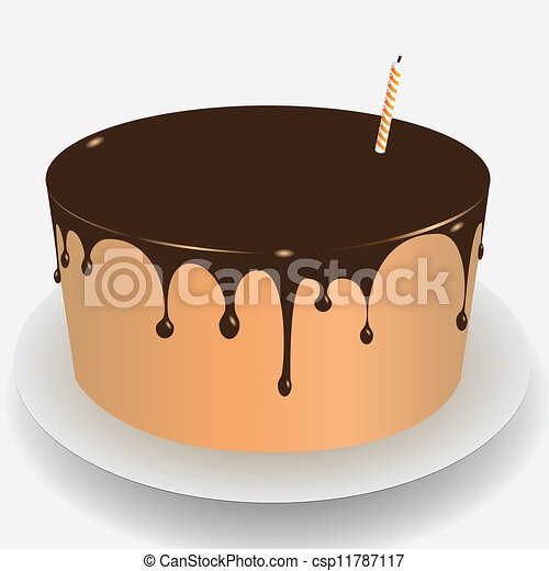 Cake Icing Clip Art : Cake Chocolate Icing - Royalty Free Vector Illustration ...