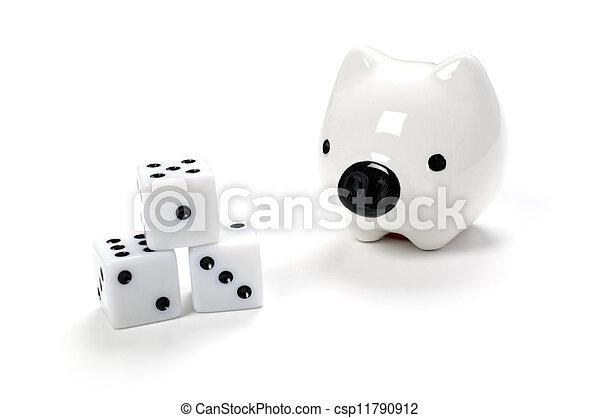 Saving or Gambling - csp11790912