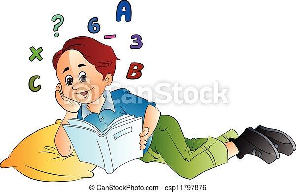 Un niño estudiando matematicas Imagui