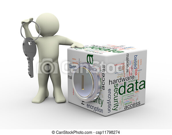 Man and data protection concept - csp11798274