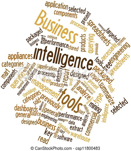 Word cloud for Business intelligence tools - csp11800483