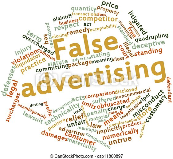 Stock Illustration of Word cloud for False advertising - Abstract word ...