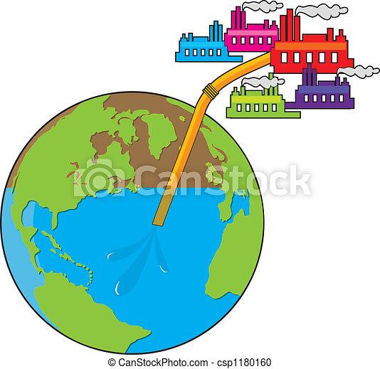 Earth Losing Water  - csp1180160